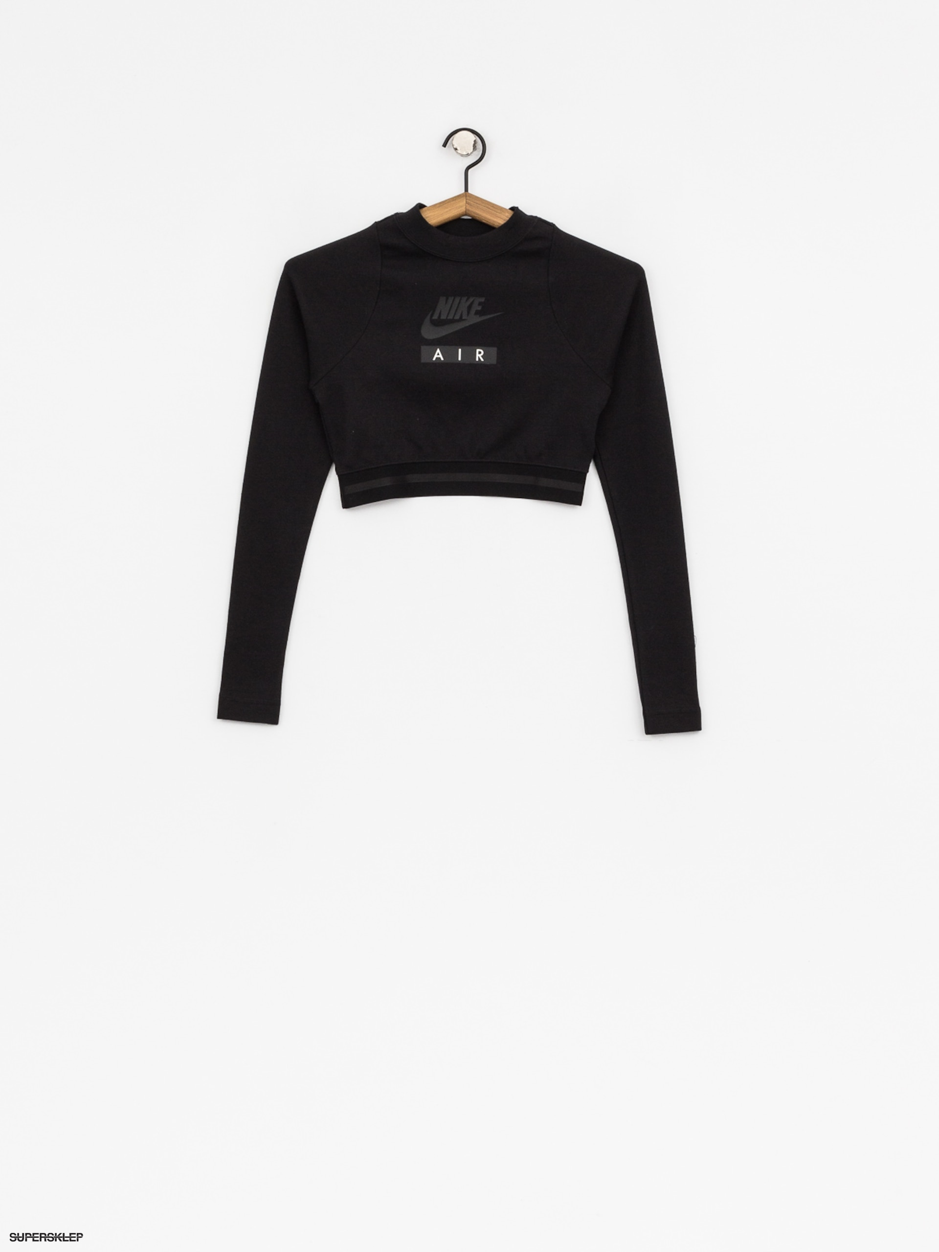 Triko Nike Crop Air Wmn (black/black/black)