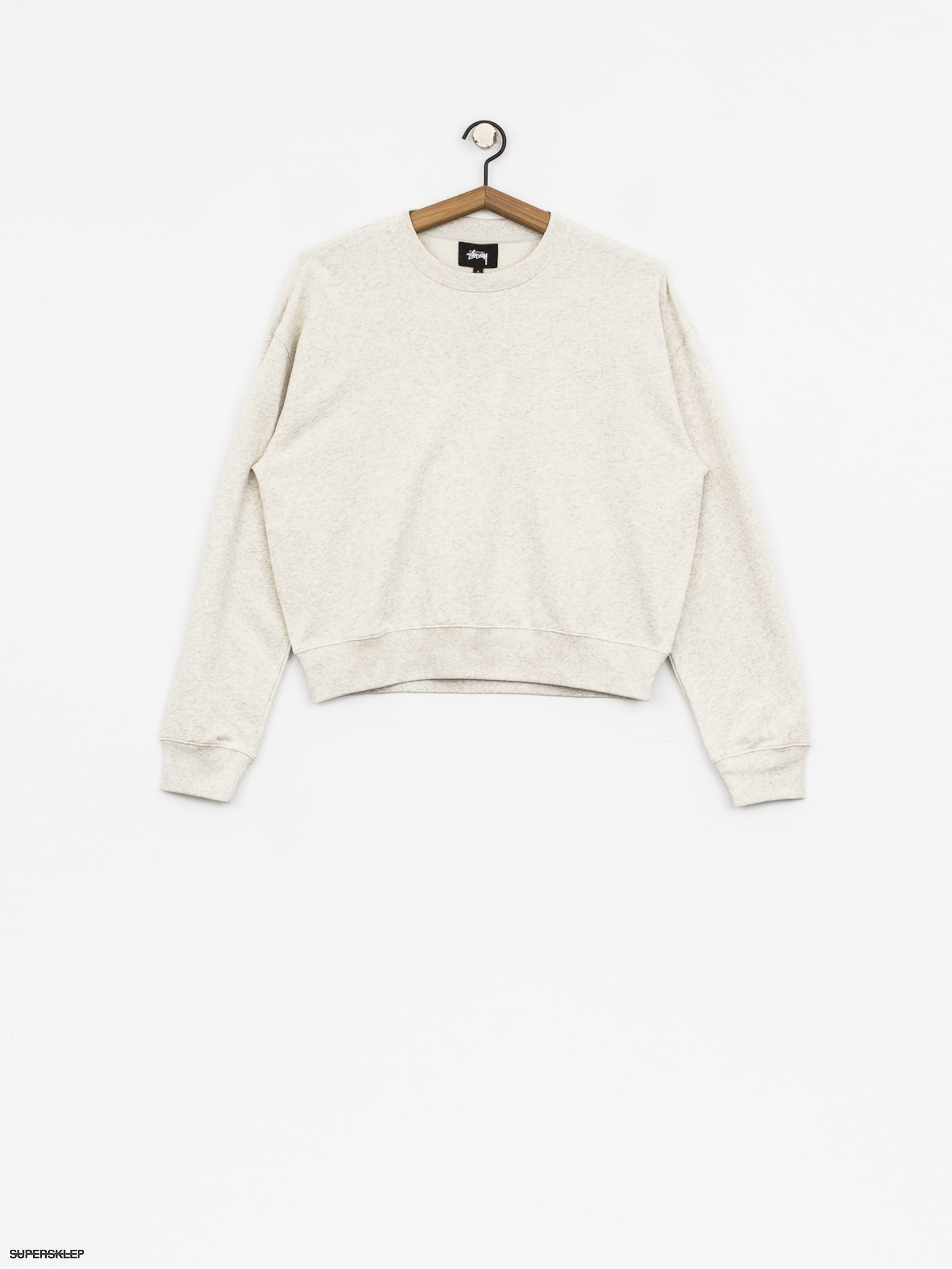 Mikina Stussy Ezra Cropped Baggy Wmn (white heather)