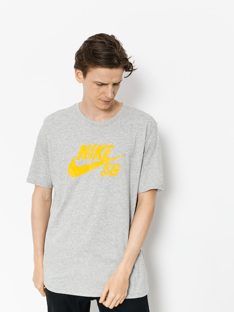 Tričko Nike SB Sb Logo (dk grey heather/laser orange)