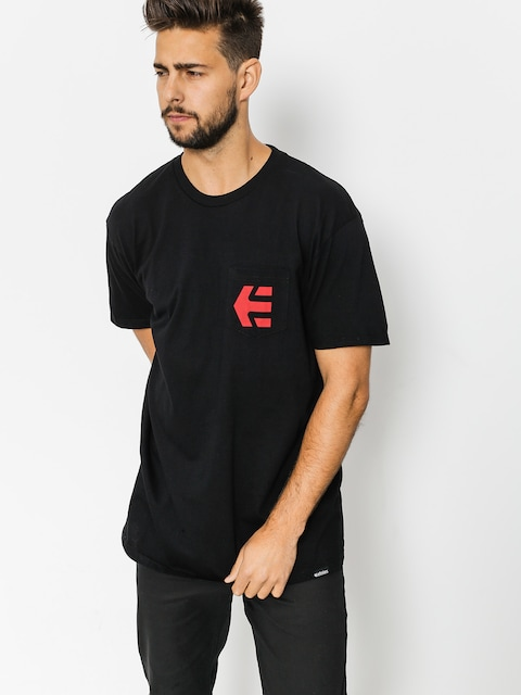 Tričko Etnies Icon Pocket (black)