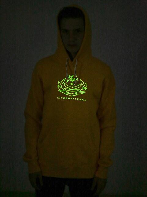 Mikina s kapucňou Koka Laurel HD (yellow)