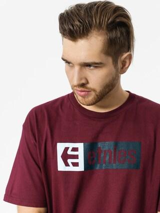Tričko Etnies New Box (burgundy)