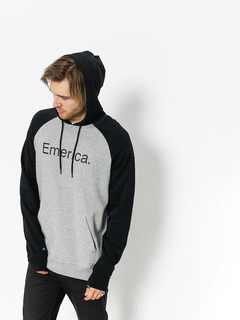 Mikina s kapucňou Emerica Purity HD (black/grey)