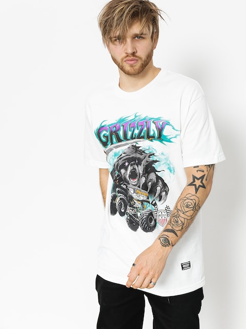 Tričko Grizzly Griptape Cave Digger (white)