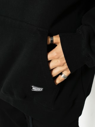 Mikina s kapucňou Grizzly Griptape Nostalgic HD (black)