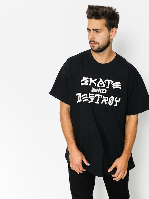 Tričko Thrasher Skate And Destroy (black)