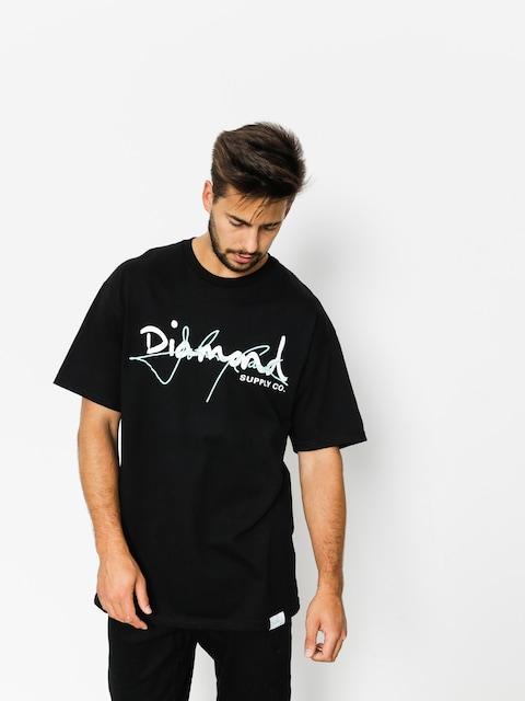 Tričko Diamond Supply Co. Cash Script (black)