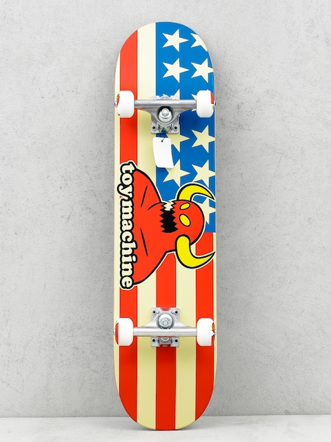 Skateboard Toy Machine American Monster (white/red/blue)