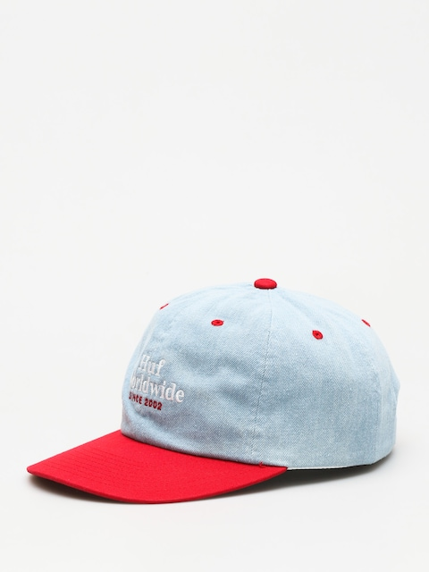 Šiltovka HUF Worldwide Denim 6 Panel ZD (resort red)