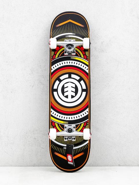 Skateboard Element Hatched Red