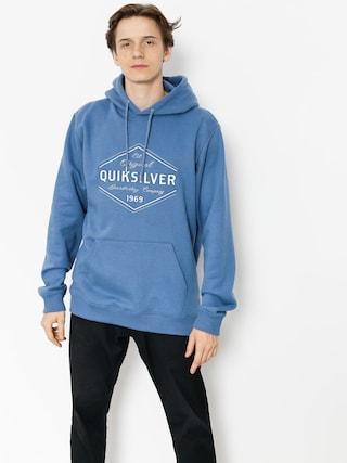 Mikina s kapucňou Quiksilver Nowhere North HD (bijou blue)