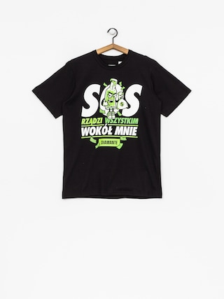 Tričko Diamante Wear SOS (black)