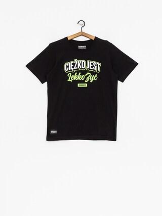 Tričko Diamante Wear Ciężko Jest Lekko Żyć (black/white/green)