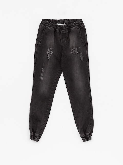 Nohavice Diamante Wear Rm Jeans Jogger (ripped black jeans)