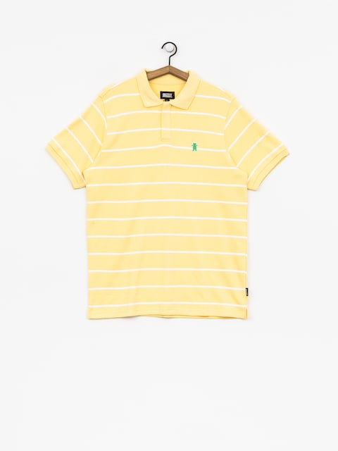 Tričko Polo Grizzly Griptape Fairway Striped (yellow)