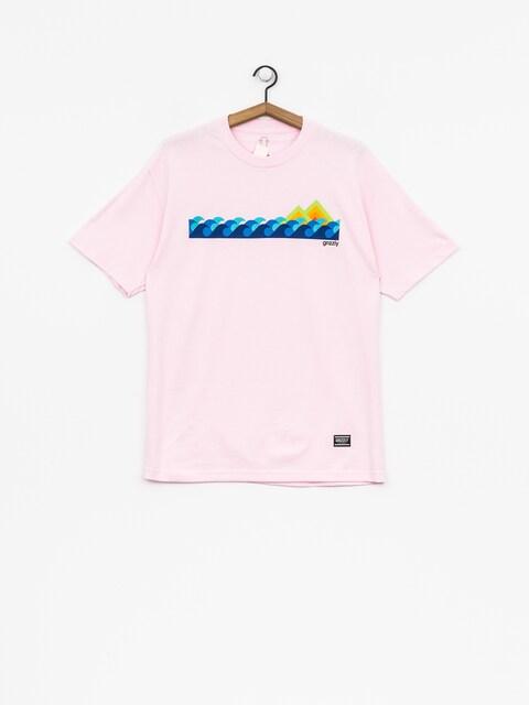 Tričko Grizzly Griptape High Tide (pink)