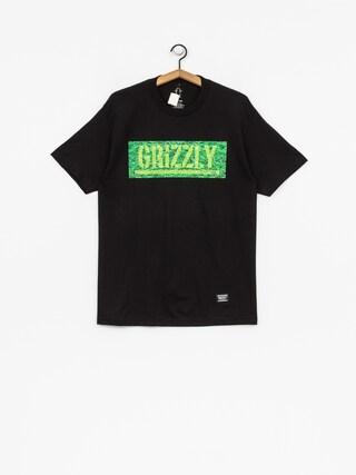 Tričko Grizzly Griptape Fresh Cut Box Logo (black)