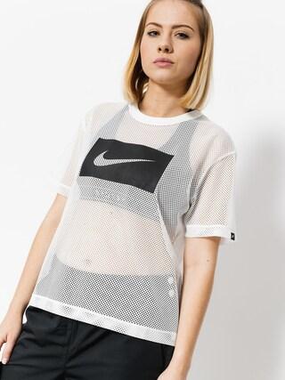 Tričko Nike Top Swsh Mesh Wmn (white/black)