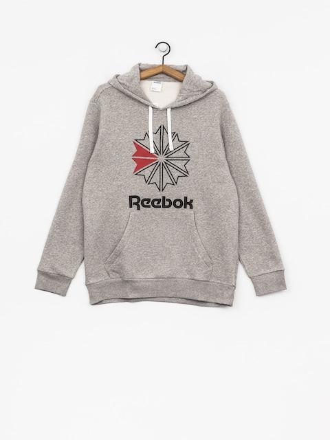 Mikina s kapucňou Reebok F Star HD (medium grey heather/black)