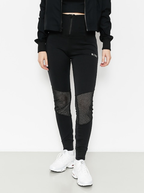 Legíny Nike Essntl Lggng Mesh Wmn (black/black/light bone)