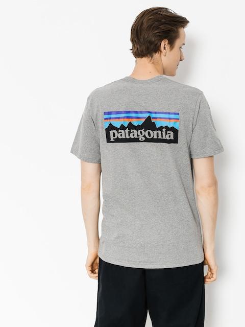 Tričko Patagonia P6 Logo Responsibili (gravel heather)