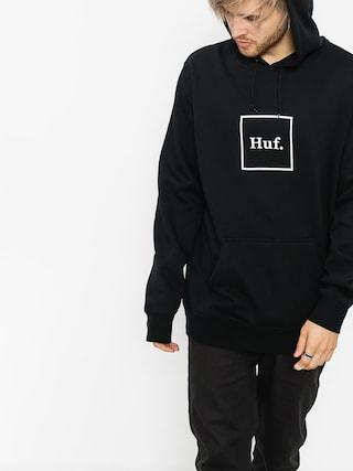 Mikina s kapucňou HUF Box Logo HD (black)