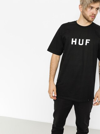 Tričko HUF Essentials Og Logo (black)