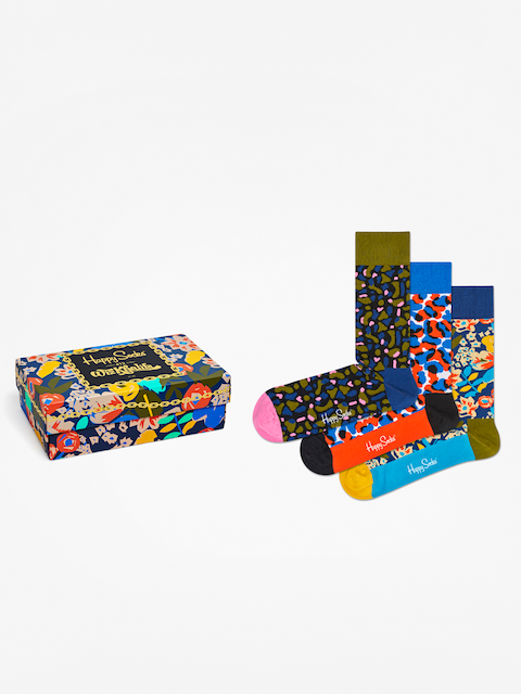 Ponožky Happy Socks Giftbox 3pk Wiz Khalifa (multi)