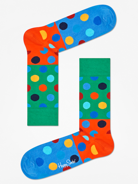 Ponožky Happy Socks Big Dot Block (green/orange/blue)