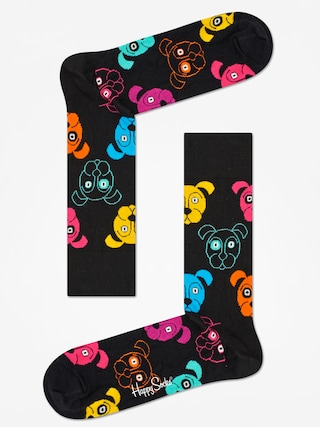 Ponožky Happy Socks Animal Dog (black/pink)