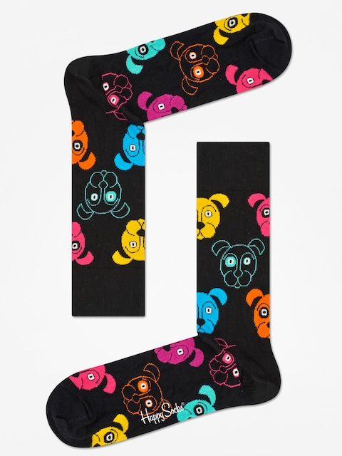 Ponožky Happy Socks Animal Dog (black/pink)