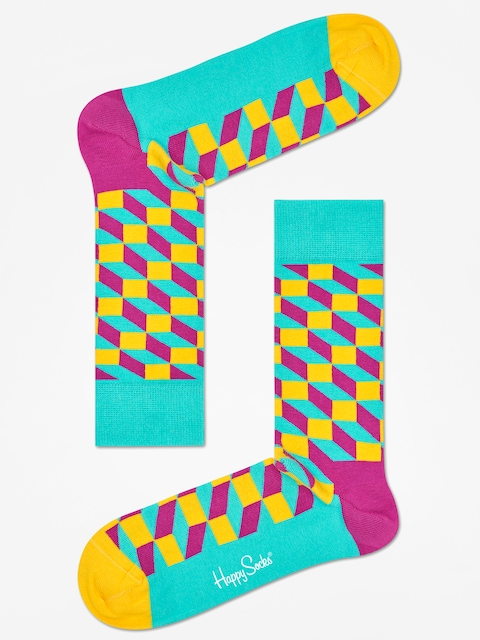 Ponožky Happy Socks Filled Optic (teal/multi)