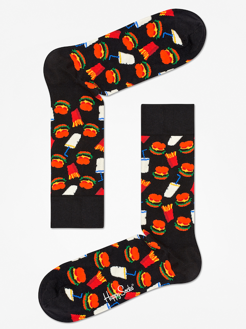 Ponožky Happy Socks Hamburgers (black/white)