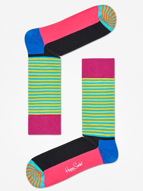 Ponožky Happy Socks Half Stripe (black pink/multi)