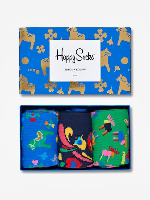 Ponožky Happy Socks Giftbox 3pk (blue/black/green)