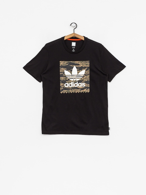 Tričko adidas Camo Bb (black/camo print/collegiate orange)
