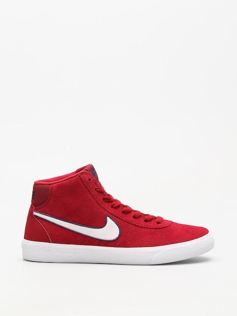 Topánky Nike SB Sb Bruin Hi Wmn (red crush/vast grey white)