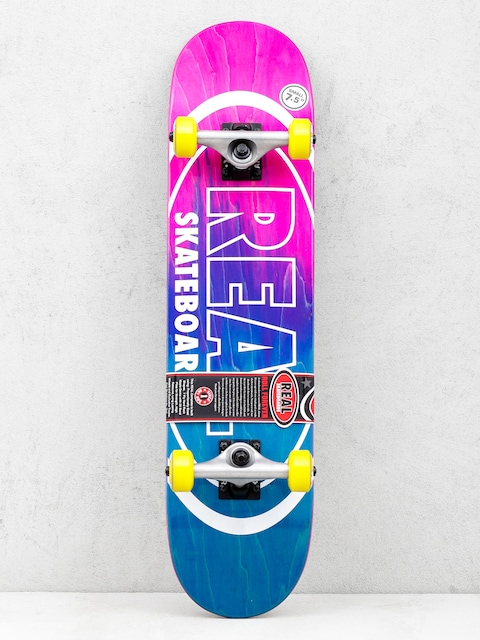 Skateboard Real Metallic Oval Fades (pink/teal)