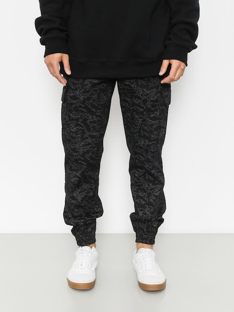 Nohavice Diamante Wear Flight School Hunter Jogger (black camo)