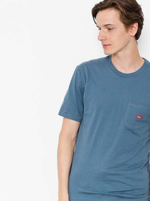 Tričko Brixton Stith Wl Pkt (dusty blue)