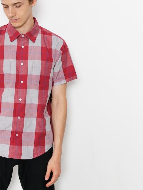 Košeľa Brixton T-shirt Branson Wvn (red/grey)