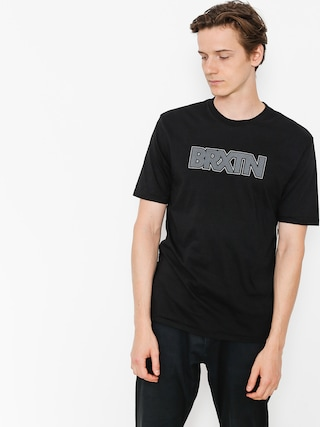 Tričko Brixton Edison Prt (black)