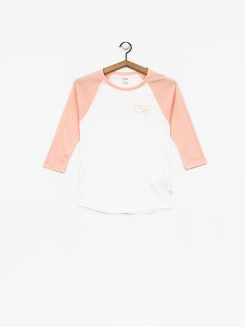Tričko Vans Full Patch Raglan Wmn (white/rose cloud)