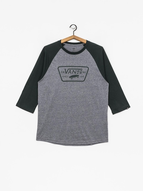 Tričko Vans Full Patch Raglan (heather grey/darkest spruce)