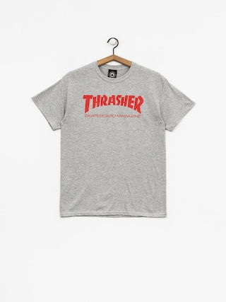 Tričko Thrasher Skate Mag (grey/red)