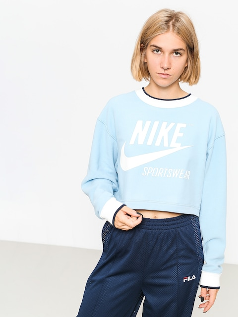 Mikina Nike Crew Rev Brs Wmn (leche blue)