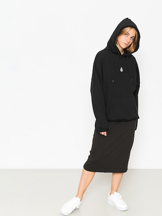 Mikina s kapucňou Volcom Roll It Up HD Wmn (blk)
