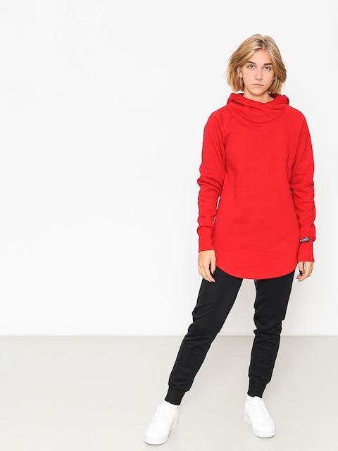 Mikina s kapucňou Majesty Velvet Wmn (red)