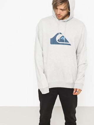 Mikina s kapucňou Quiksilver Big Logo HD (light grey heather)