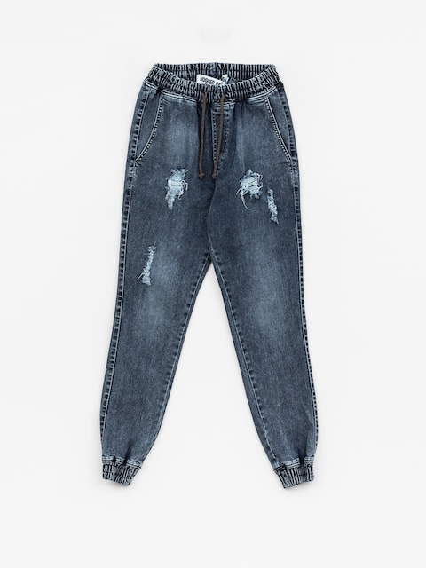 Nohavice Diamante Wear Rm Jeans Jogger (ripped blue jeans)
